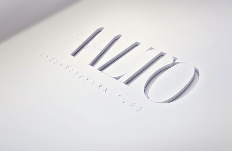 diseño de logotipo corporativo para empresa de fabricación y venta de muebles de alta gama, imagen corporativa y diseño web Marbella