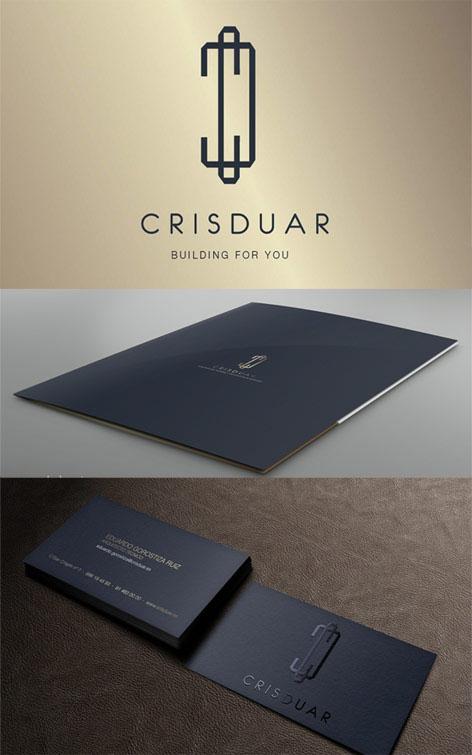 diseño de logotipo para promotora inmobiliaria. imagen corporativa y diseño web en Madrid