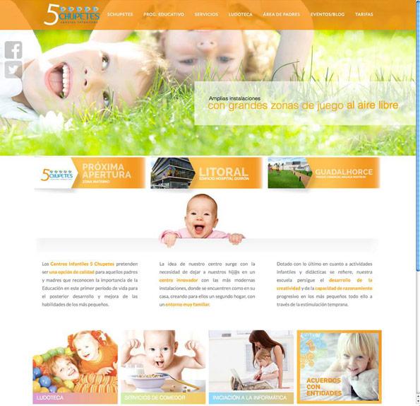 diseño multimedia para empresa infantil de guarderias
