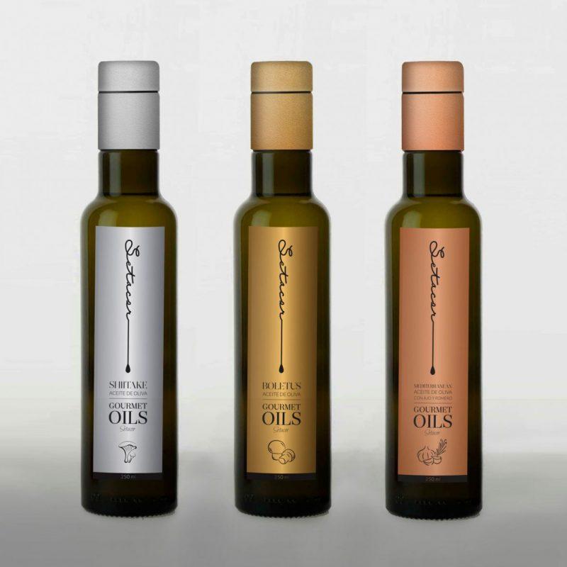 diseño de botellas de aceite de diseño