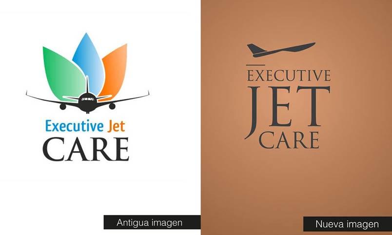 antes y despues de logotipo de marca, rebranding