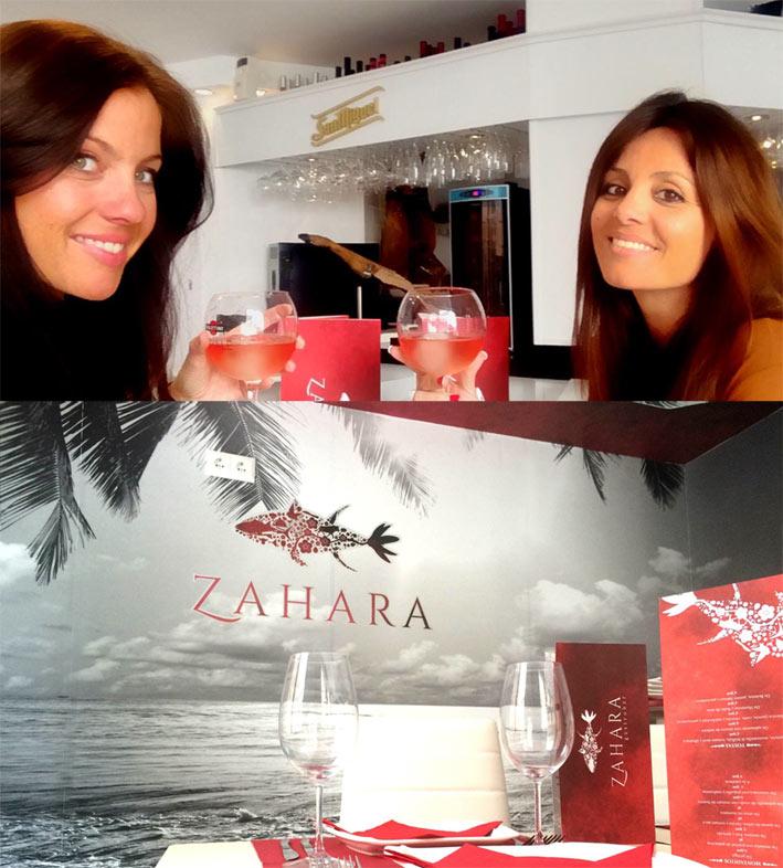 socias de Tango estudio en restaurante Zahara